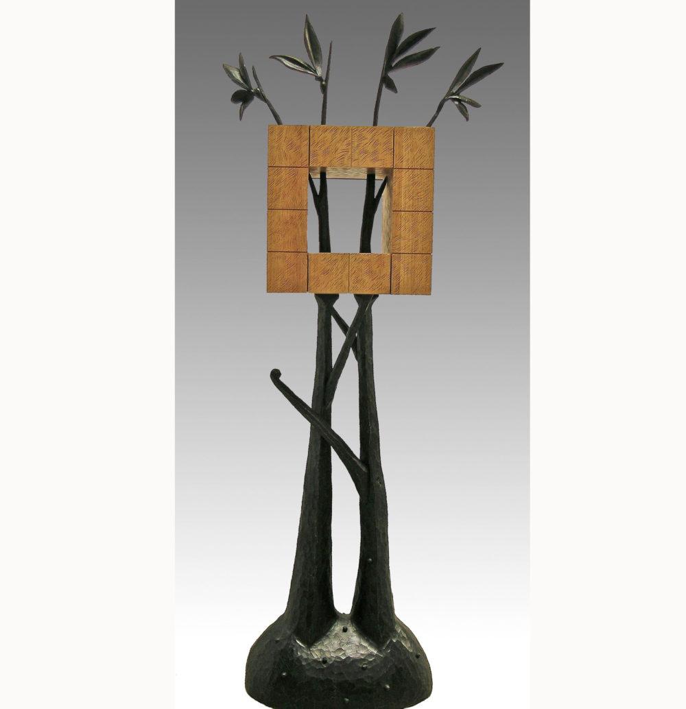 Cabane, en chêne teinté, 190 x 60 x 45 cm
