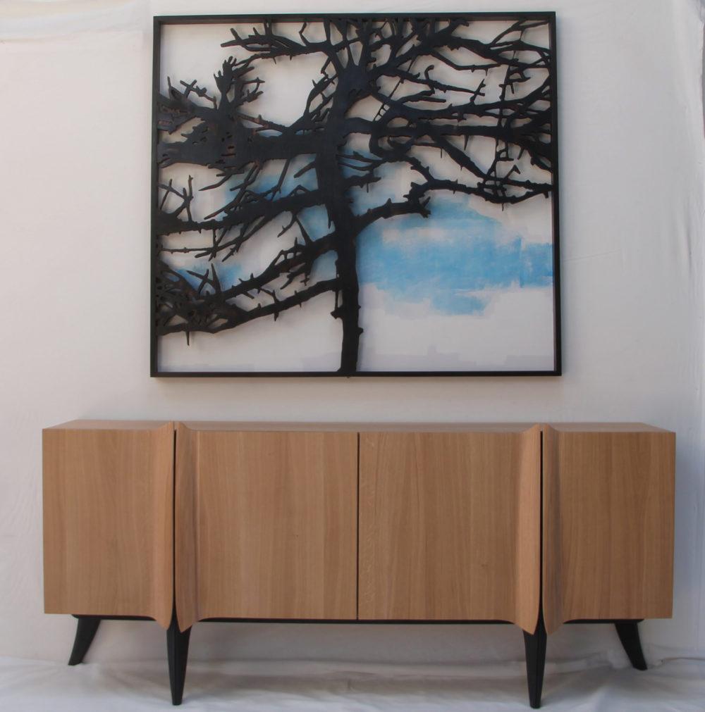 En chêne, 220 x 100 x 50 cm