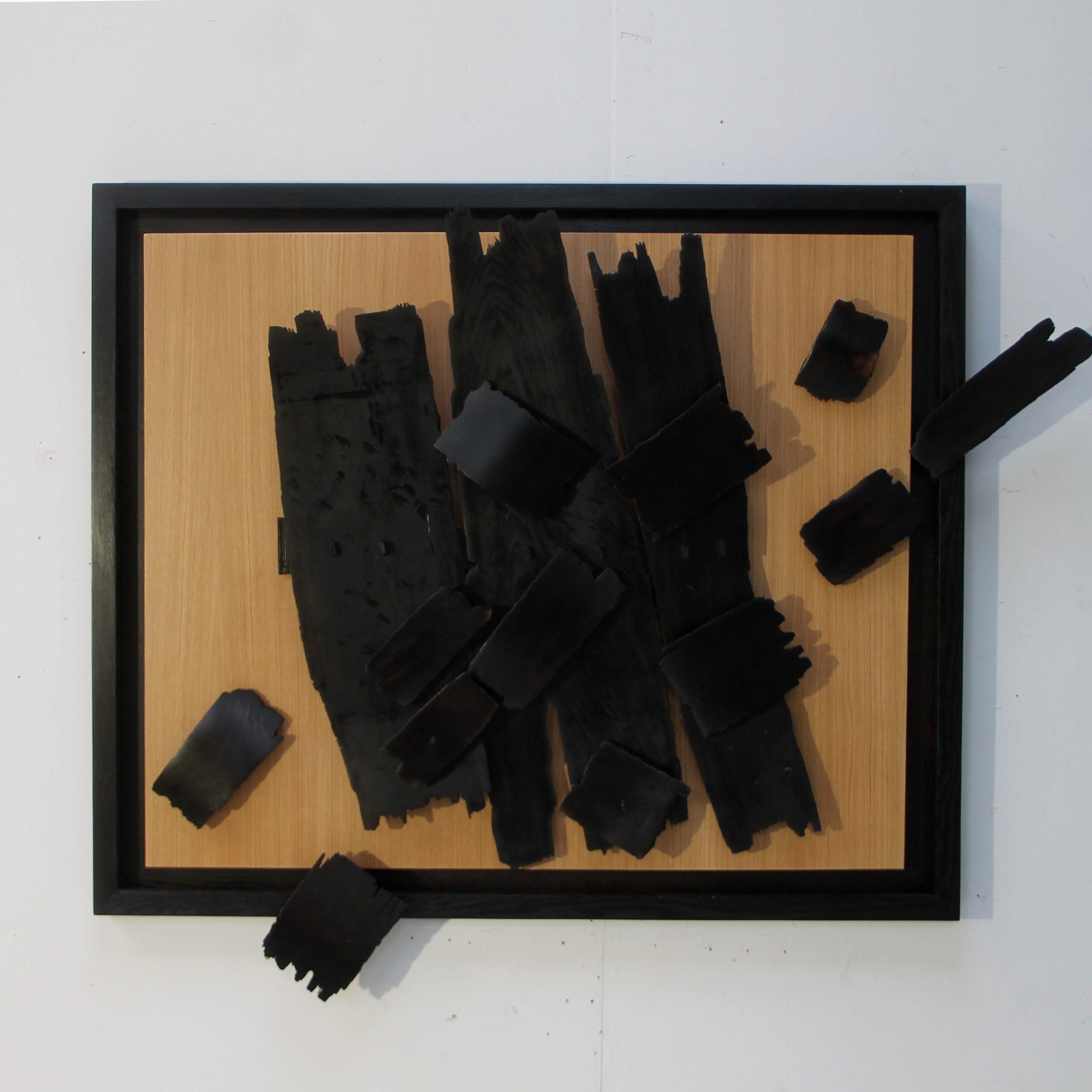 Mouvement avec cadre II 116 x 137 x 16 cm