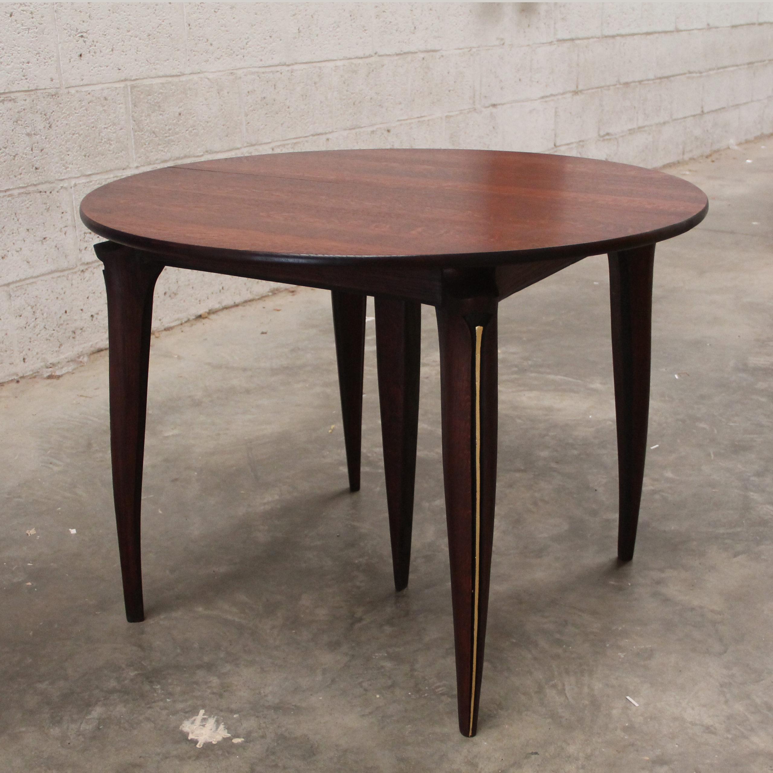Table ronde avec rallonge